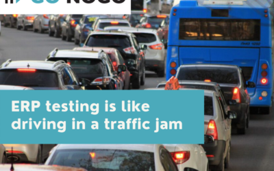 ERP testing is like driving in a traffic jam